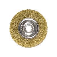 Щітка для КШМ, 150 мм, посадка 22,2 мм, плоска металева MTX