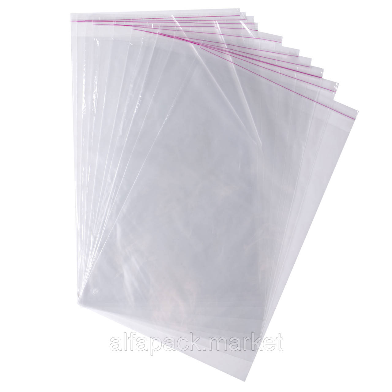 Пакет полипропиленовый с липкой лентой и отверстием 280*550 (1000 шт в упаковке) 030000420