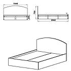 Кровать - 140 Компанит Нимфея Альба, фото 2