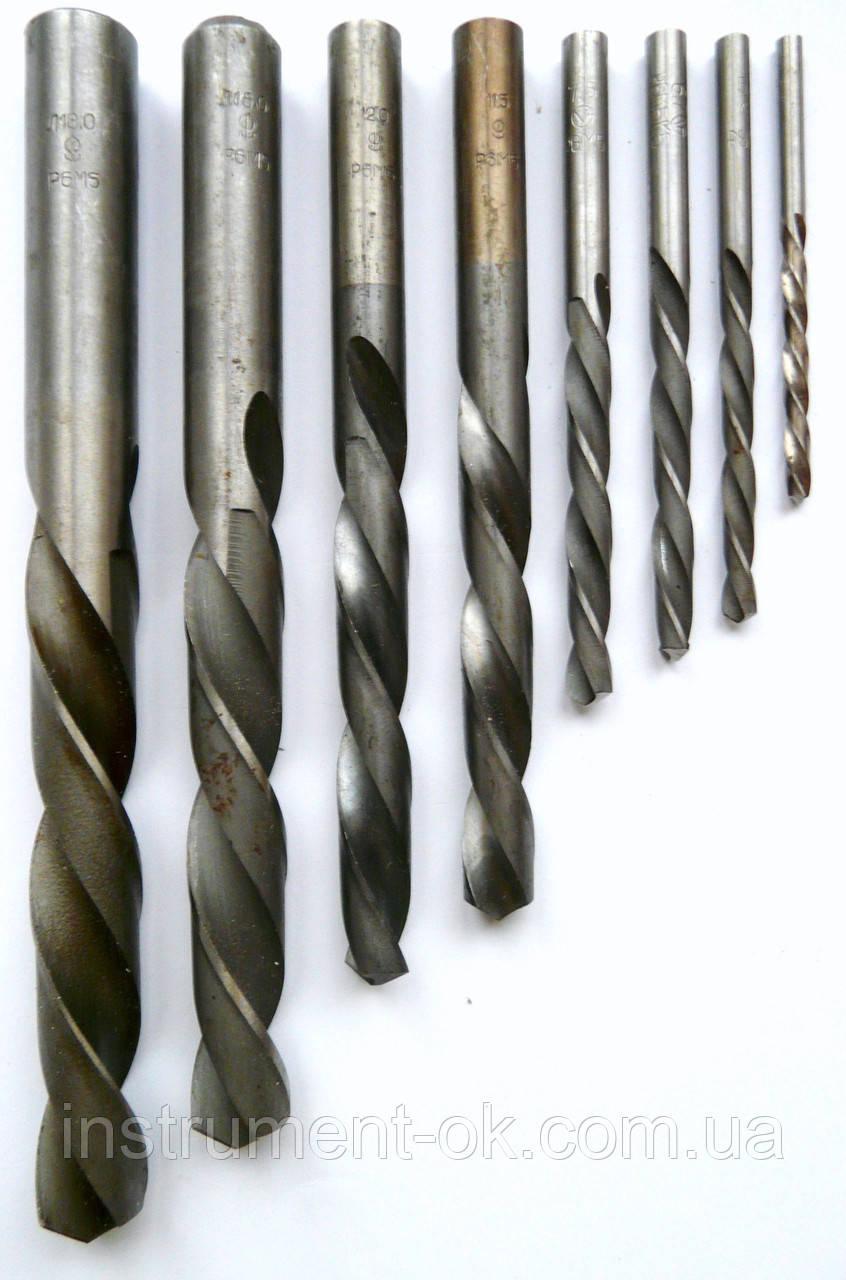 Сверло по металлу левого вращения d 4.8 мм Р18