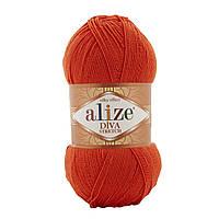 Alize Diva Stretch оранжевый № 37