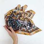 10195-16, павлопосадский платок из вискозы с подрубкой 80х80, фото 5