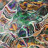 10195-16, павлопосадский платок из вискозы с подрубкой 80х80, фото 10