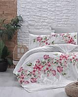 Комплект постельного белья First Choice Ranforce Riella Kirmizi Двуспальный Евро