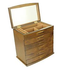 Деревянная шкатулка-органайзер Wooden Collection для украшений, 6 уровней, фото 2