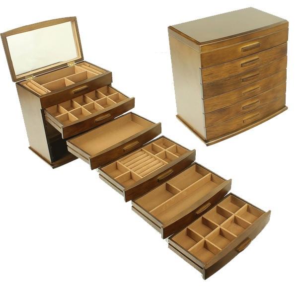 Деревянная шкатулка-органайзер Wooden Collection для украшений, 6 уровней