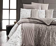 Комплект постельного белья First Choice Ranforce Peitra Kahve Двуспальный Евро