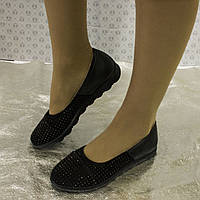 Замшевые женские балетки, фото 1