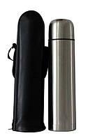 Термос металический с чехлом 0,5 литра, Термосы, Термоси