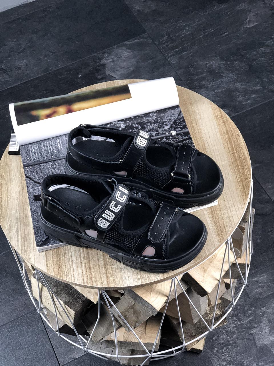 Женские босоножки Gucci Sandals Black