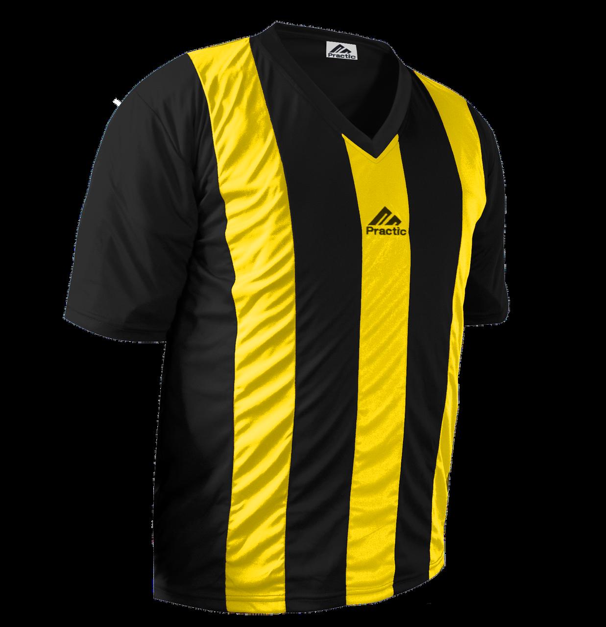 Форма футбольна Practic M, L, XL, XXL Жовто-Чорна