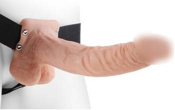 Реалистичный страпон фаллопротез Pipedream Hollow