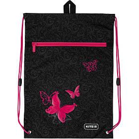 K20-601M-13 Сумка для обуви Kite с карманом 601M Butterfly tale