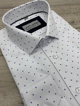 Рубашка мужская белая c принтом. LIMITLESS