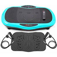 Виброплатформа Hop-Sport 3D HS-070VS Scout бирюзовый + массажный коврик для дома и спортзала
