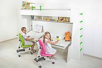 Детская двухъярусная кровать трансформер с рабочим местом парта Pondi / Понди