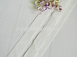 Стрічка оксамитова 2,5 см біла
