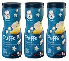 Снеки для детей Gerber, Puffs Cereal Snack, 8+ Месяцев, Банан 42 г.