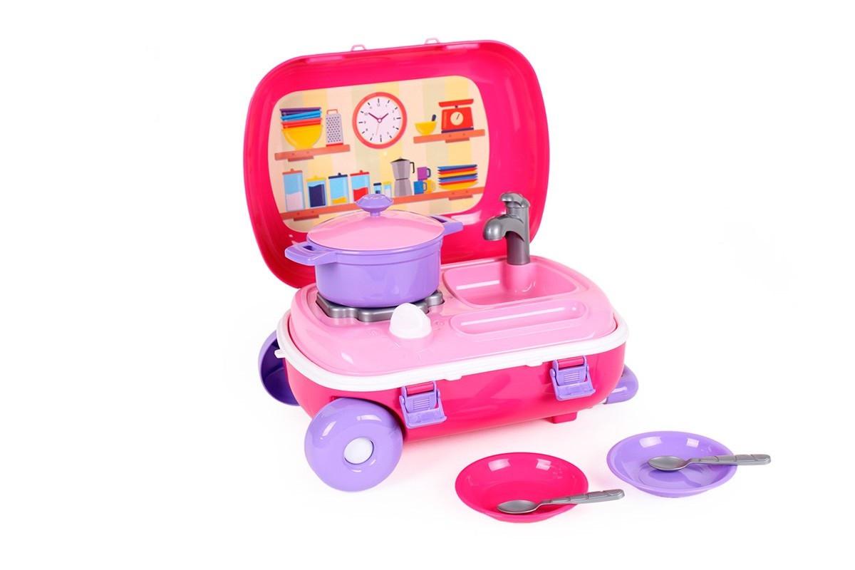 Кухня с набором посуды ТехноК в чемодане, арт.6061 - детский игровой набор