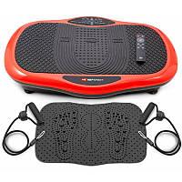 Виброплатформа Hop-Sport 3D HS-070VS Scout красный + массажный коврик для дома и спортзала