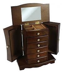 Деревянная винтажная шкатулка-органайзер Wooden Collection для украшений, фото 3
