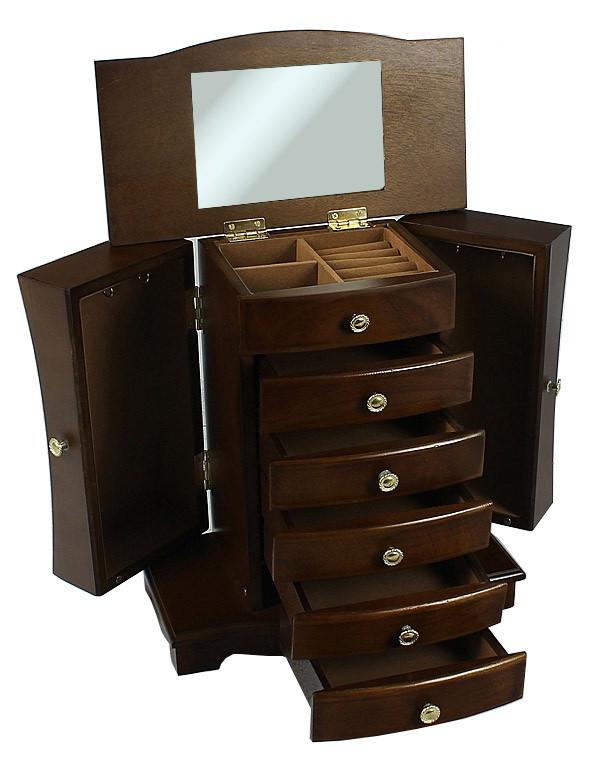 Деревянная винтажная шкатулка-органайзер Wooden Collection для украшений