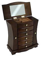 Деревянная винтажная шкатулка-органайзер Wooden Collection для украшений, фото 2