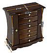 Дерев'яна вінтажна скринька-органайзер Wooden Collection для прикрас, фото 2
