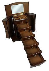 Дерев'яна вінтажна скринька-органайзер Wooden Collection для прикрас, фото 3