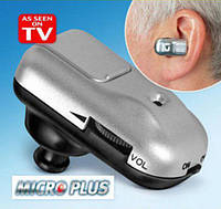 Слуховой аппарат с усилителем звука Micro Plus, Слуховий апарат з підсилювачем звуку Micro Plus