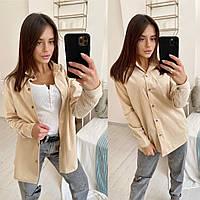 Женская стильная рубашка из ткани вельвет  размер 42-44, 46-48, фото 1