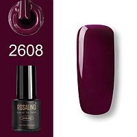 Гель-лак для ногтей маникюра 7мл Rosalind, шеллак, 2608 баклажанный