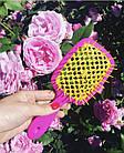 Расческа для волос Janeke 1830 Superbrush The Original Italian Розово-желтая, фото 2