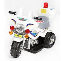 Детский электромобиль мотоцикл ZP white