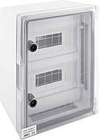 Корпус ударопрочный с АБС-пластика e.plbox.300.400.165.24m.tr, 300х400х165мм, IP65 под 24 модуля
