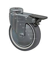 Колесо поворотное с отверстием и тормозом Серии 22 СМАРТ ПКК Диаметр: 100мм.
