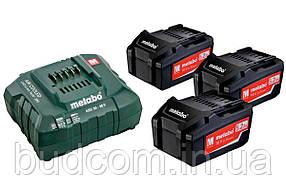Комплект аккумуляторных батарей Metabo 3*5.2 Ач 18 В (685048000)