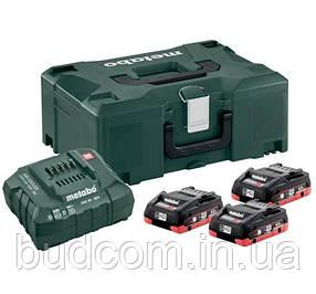 Комплект аккумуляторных батарей Metabo 3*4.0 Ач 18 В LiHD + MetaLoc (685133000)
