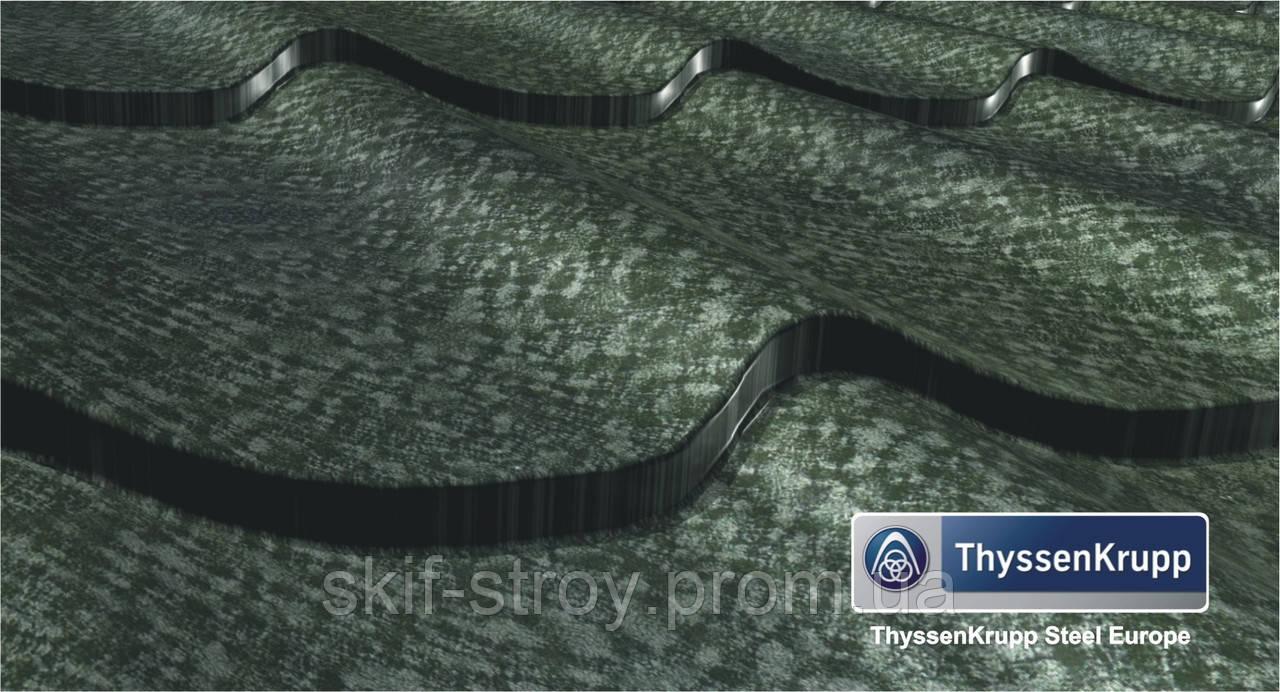 Металлочерепица Монтеррей 0,5мм Германия ThyssenKrupp.  MgZn130, покрытие - iceCrystal