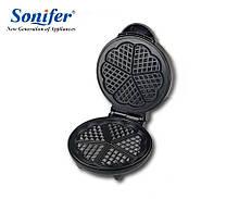 Вафельница Sonifer SF-6032, вафельница сердечки, вафельница бельгийские вафли, вафельница бытовая