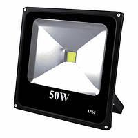 Прожектор светодиодный матричный 50W COB, IP66 (влагозащита), гладкий рефлектор, Светильники и фонари светодиодные, Світильники і ліхтарі світлодіодні