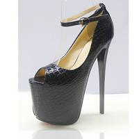 Супер туфли ультра высокий каблук 19 см 2 цвета есть большие размеры до 50, фото 1