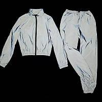 Влагозащитный светоотражающий женский спортивный костюм рост 158-176