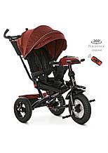 Велосипед детский трехколесный TURBOTRIKE  M 4060HA-1L  колясочного типа
