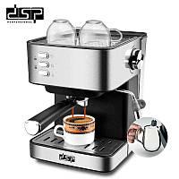 Кофемашина полуавтомат DSP Espresso Coffee Maker KA3028 с капучинатором, Кофеварки, Кавоварки