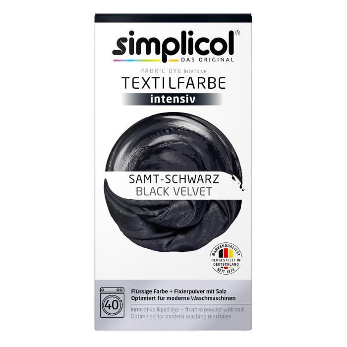 Краска Simplicol для смены цвета 150мл+400г закрепитель черная