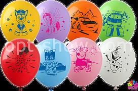 """Воздушные шары """"Мультяшный Микс"""" цветная печать В упак: 100шт"""