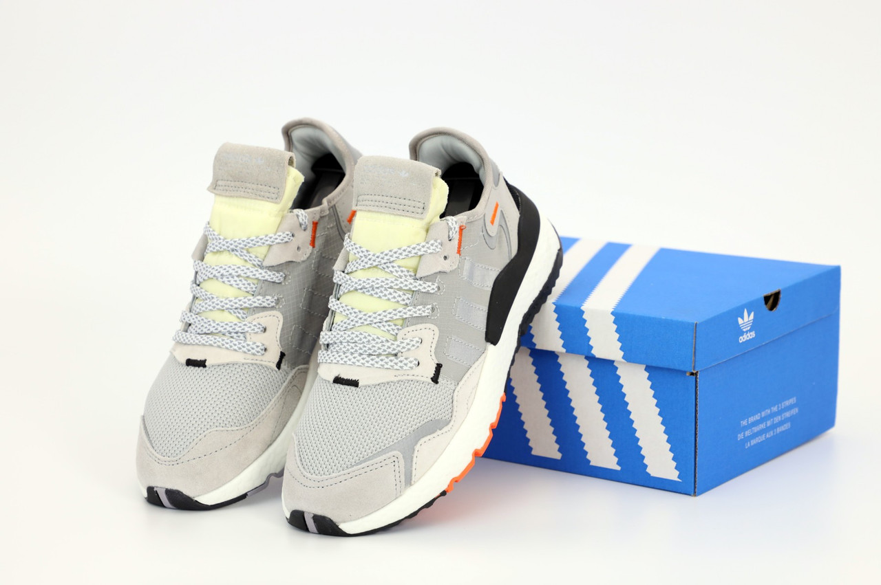 Мужские кроссовки Adidas Nite Jogger. Рефлектив. Grey. ТОП Реплика ААА класса.