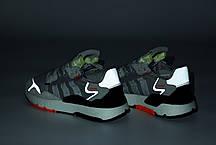 Мужские кроссовки Adidas Nite Jogger. Рефлектив. Grey. ТОП Реплика ААА класса., фото 3