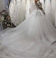Свадебное платье юбка блеск